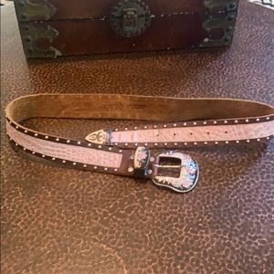 Cache brown and pink rhinestone stud belt!!!